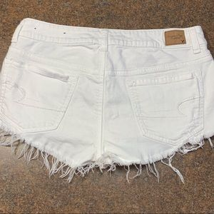 American Eagle Stretch distressed White Shorts
